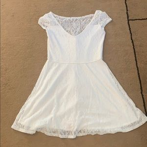White lace Hollister skater dress